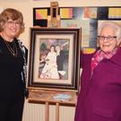Mary Doran, MC on the night, with Sr Mary Crosbie, who opened the exhibition