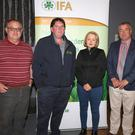 Jer O'Mahony, James Kehoe, Edel Gahan and Tom Short at the IFA's fodder crisis meeting