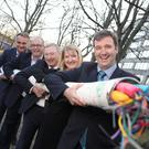 Dominique Astier, Deputy CEO of Axione; Sean Atkinson, CEO, SIRO; Declan O'Neill, CEO, Obelisk; Audrey O'Sullivan, General Counsel, SIRO; and Minister of State Michael D'Arcy