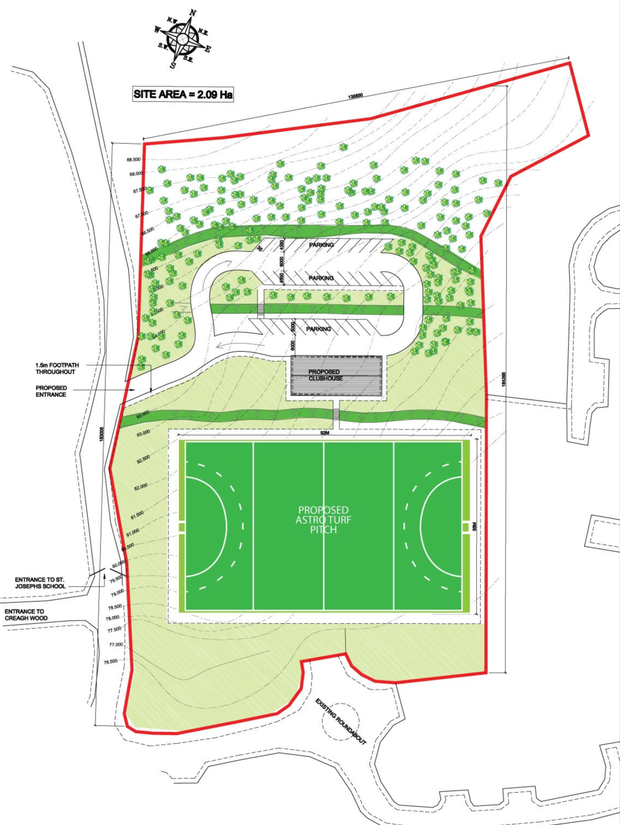 The proposed plans for the €300,000 Gorey Hockey Club development