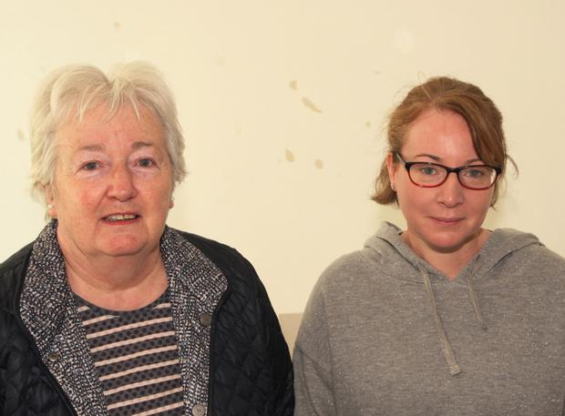 Angela Coghlan and Mary Byrne at the talk and workshop on the May customs