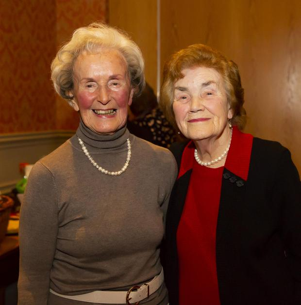 90-year-old Billie O'Donnell from Taghmon and Maggie Morrissey, Camross, aged 87, pictured in the Horse and Hound in Ballinaboola where they both performed in the County ICA Has Talent Show. Photo: Mary Browne