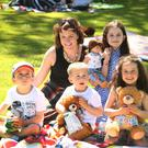 Ciara Breen with her children, Donncha, Tom, who celebrated his 4th birthday on the day, Neala and Laoise