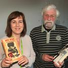 Executive librarian Dearbhla Ni Laighin with guest speaker and author of 'My Boy' Jackie Hayden