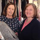 Volunteer Betty Clancy and sales assistant Sadie Clare at the Irish Wheelchair Association charity shop, Pearse Street, Gorey