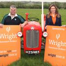 Wright Insurance Brokers director John McHugh, Gorey Agricultural Show chairman William Cecil, Wright Insurance Brokers group marketing manager, Mary French and landowner, Michael Leacy