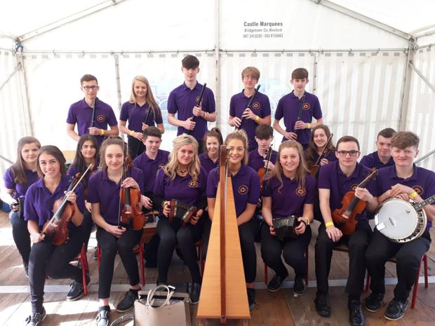 CCÉ Gorey/ Ballygarrett 15 to 18year old Grupai Ceoil at Wexford County Fleadh in Bannow who were awarded 1st place in Grupai Ceoil Competition