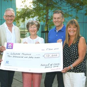 From left: Fiona Brennan, festival chairman Paul Brown, WHHS director Una Murphy, Gay Dunne and Martina Halford