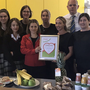 Back row: Caitlin Falconer, Janet Wallace, Eilish Smyth and Acting Principal Declan O Toole. Front row: Natalia Czernyhowska, Laura Hickey (Irish Heart Foundation), Moira Murray and Catherine Ryan