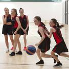 The Creagh College girls basketball team in action