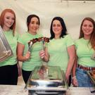 Annie Dempsey, Sinéad Kenny, Aoife Redmond and Sorcha Foley helping with the food at last year's ShedFest