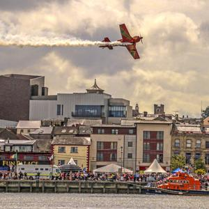 The airshow, which takes place this year on Sunday afternoon