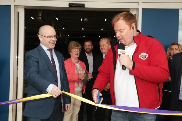 The official opening of Choice at Mill Retail Park in Gorey. South East Radio DJ Tony Scott cuts the tape with general manager Michael Brett