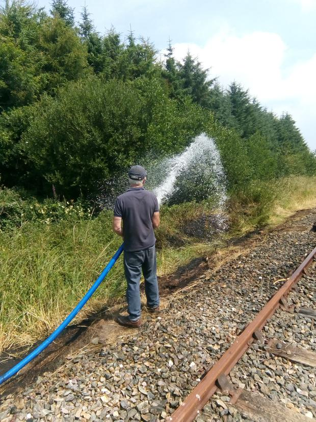 Tackling the fire in Mayglass