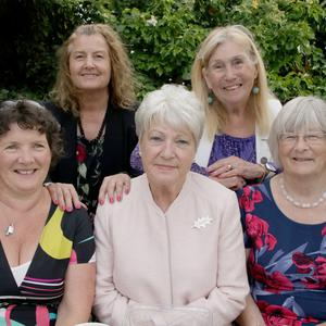 Wexford Federation president Mary D'Arcy, Bree president Breda Cahill, national president Marie O'Toole and Wexford Federation vice-presidents Dee Devereux and Deirdre Connery