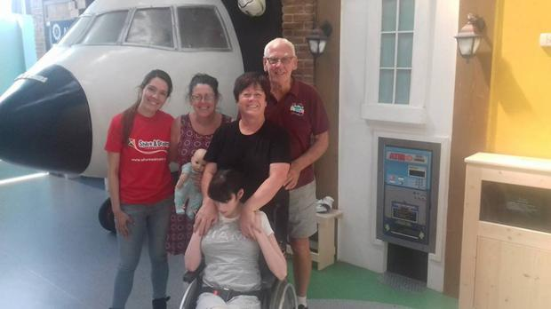 Sheila, her mam Nancy and her aunt Sheila with Share a Dream founder Shay Kinsella at Dreamland