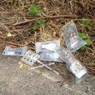 Drug paraphernalia found in the laneway between Charlotte Grove and Newborough by members of Gorey Tidy Towns