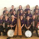The under-12 grupaí ceoil from CCÉ Gorey-Ballygarrett who are off to the Fleadh in Drogheda