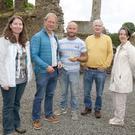 Catherine McLoughlin, Stafford McLoughlin Archaeology; Chris Corlett, National Monuments Section; Joey Carr, who found the tile; Colm Morris, Ferns Heritage Group and Amanda Byrne, Area Manager, Gorey Municipal District