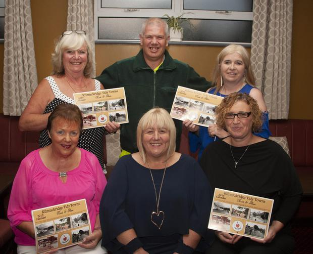 The committee behind the new calendar (from left)front – Betty Walsh, Cllr. Mary Farrell who launched the calendar, and Mary Athins, calendar designer; back – Iris McMenamin, assistant secretary, Niall Darcy and Aideen Hayes,PRO