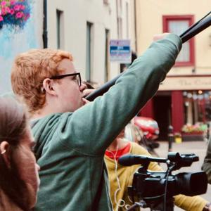 Some young filmmakers participating in a film project in New Ross