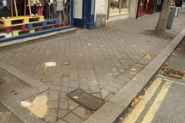 The footpath is just one of many problems