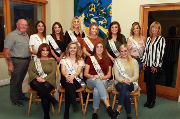 At the launch of the St. Aidan's Services Rose of 2018 (from left), front, Roses Cody Sibley, Aoibheann Doyle, Orla Crowe and Orla Molloy; back, organiser Frank Norris, Roses Ciara Foley, Ciara Byrne, Marguerite Donohoe, Shauna Kavanagh, Meg Tyrrell, and Leona Doyle, and Denise Kearney, HR manager