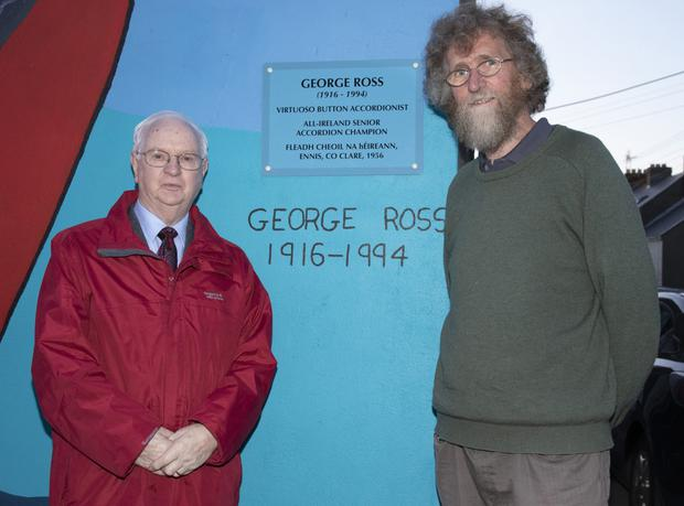 Liam Gaul, who performed the official unveiling, pictured with Colm O'Muiri