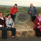 Elizabeth Mulligan, Christine Pidgeon, Catherine Baker, Cllr Joe Sullivan and Trish O'Connor pictured at the updated rockery at Tara Hill