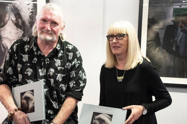 Paddy Lennon and Moyra Donaldson with their new book