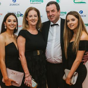John Cullen with his family at the Zurich Insurance Farmer of the Year Awards