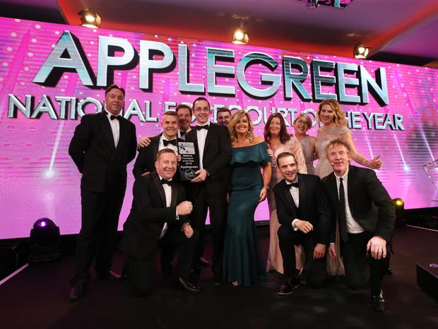 The Applegreen, Ramstown team who were presented with the title of National Forecourt of the Year 2019 at the 21st Annual Retail Excellence Awards