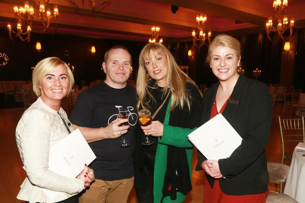Rory O'Moore and Kathtrina Furlong (centre) pictured with wedding events co-ordinators, Sonia Doyle and Stephanie Miller at the festive wedding showcase evening at Seafield Hotel and Spa Resort