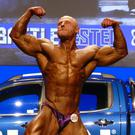 Loughlin competing for the Mr Universe title in Birmingham