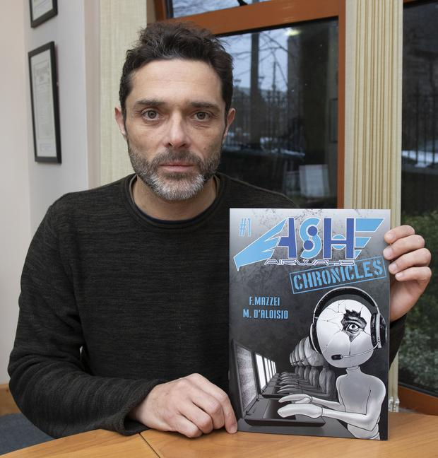 Clonard's Federico Mazzei with the graphic novel