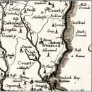 This map was surveyed by William Petty in the years 1656-1658 and now includes Gorey (Gory). It and the other map featured here come from UCD Library