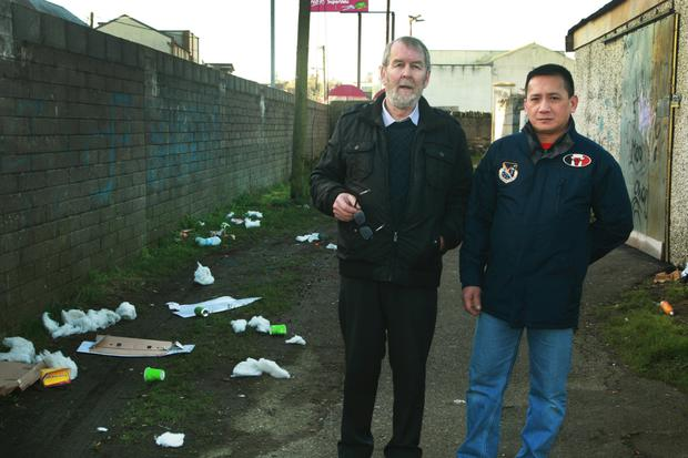 Tommy Kenny and Willie Tubangui from Eire Street