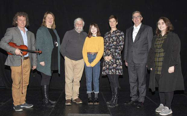 At the launch of the PWC Spotlight Programme in Wexford Art Centre (from left): Luke Cosgrave, Elizabeth Whyte (Wexford Art Centre), Jackie Hayden, Patricia Lawlor, Rosemary Hayes (chairperson, Wexford Art Centre), Billy Sweetman (PwC) and Rachel Grace