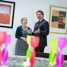 Regina Moran, Enterprise Director of Vodafone Ireland with Sven Spollen-Behrens, Director of the Small Firms Association