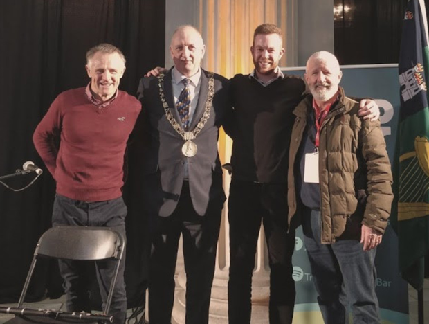 Pat Fitzpatrick,Niall Ring (Lord Mayor of Dublin), Mark Redmond and Kieran Hanrahan (artistic director of Tradfest)