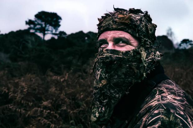 An example of Claudio Nego's photos of ethical hunter Neil Motherway