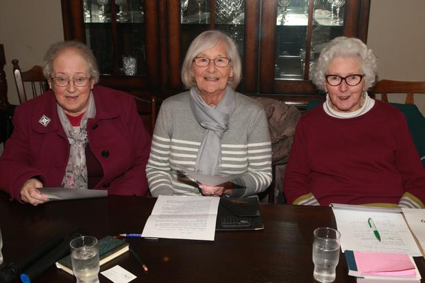Outgoing officers Mary Gleeson, Frances Shaffrey and Sydney O'Reilly