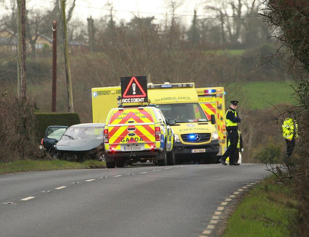 The scene of Sunday's collision outside Ballycanew