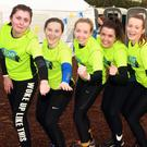 Niamh Letsome, Katie Lacey, Ciara Donohoe, Ali Murphy, Katie Lillis and Shauna Carroll