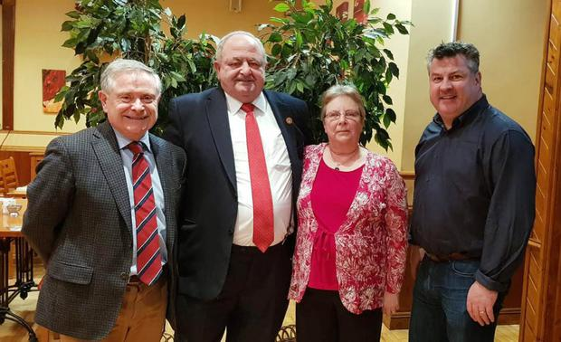 At the Labour Party selection convention for the Gorey Municipal District in the Loch Garman Arms were Brendan Howlin TD, Cllr Robbie Ireton, who was selected; his wife Mary Ireton and Cllr George Lawlor