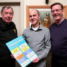 Directors of three competing plays in the festival, Mick Byrne, Kilrush Drama Group, 'Steward of Christendom'; Kieran Tyrrell, Bunclody Kilmyshall, 'Moonglow' and Eddie McGlynn, Tinahely Variety Group, 'Eclipsed'