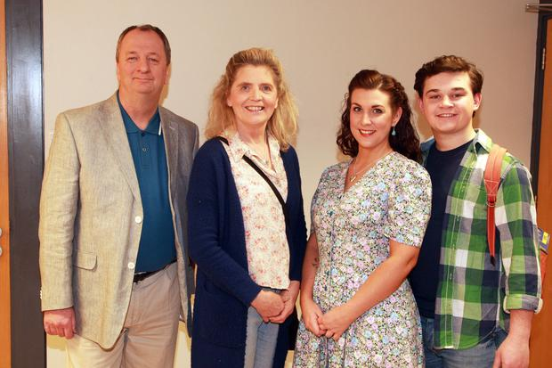 The cast of the Gorey Little Theatre production of 'Bloomsday': Tom Fanthom, Jan Cullen, Karen Dunbar and Reece Hughes