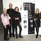 At the launch of Wexford Sinfonia's Spring Concert in the National Opera House, from left: Mary Fox (secretary), Matt Seaver, Terri Murphy (orchestra leader), Annie O'Lionain, Keith Miller (chairman), Catherine Friend (PRO) and Liz Burns (Art Officer, Wexford County Council)