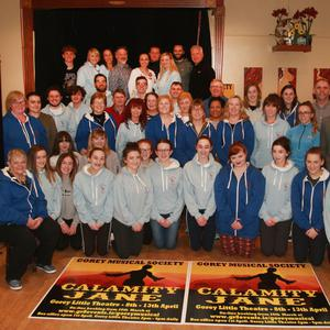 Gorey Musical Society in the Loch Garman Arms launching their online booking, which opens on March 26, for their upcoming production of Calamity Jane, which runs from April 8-13