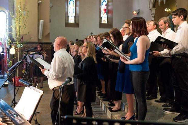 Ballygarrett Church Choir singing in St Michael's Church at last year's Festival